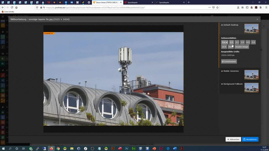 DECOR-UNION- Bildausschnitt erstellen nach Änderung